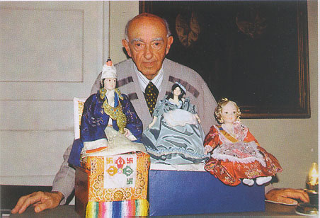 Mr. Perinic with his dolls
