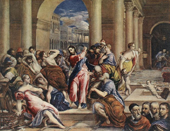 Expelling merchants from the temple, El Greco