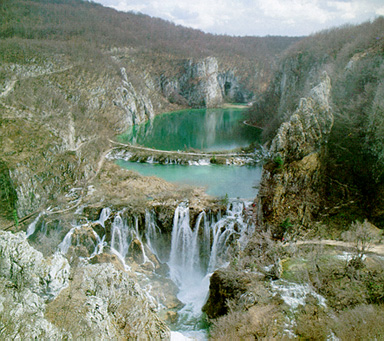 Plitivce lakes, Photo by V. Pfeifer from I. Brailic's book on The National Parks of Croatia
