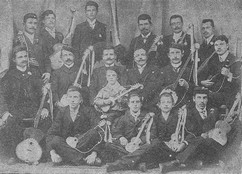 Croats in Punta Arenas, Chile, with their tamburitzas