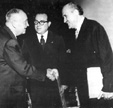 With Dr. Schaerf, president of Austria, 1957