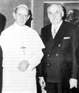 With Pope Paul VI during private audience, 1972