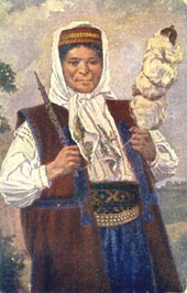Croatian woman in Bosnia