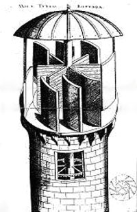 Wind turbine by Faust Vrancic, 1595, the first in history