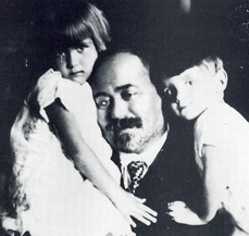 Stjepan Radic with grandchildren